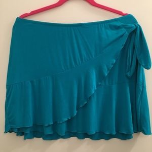 Layered Swimsuit Coverup Skirt